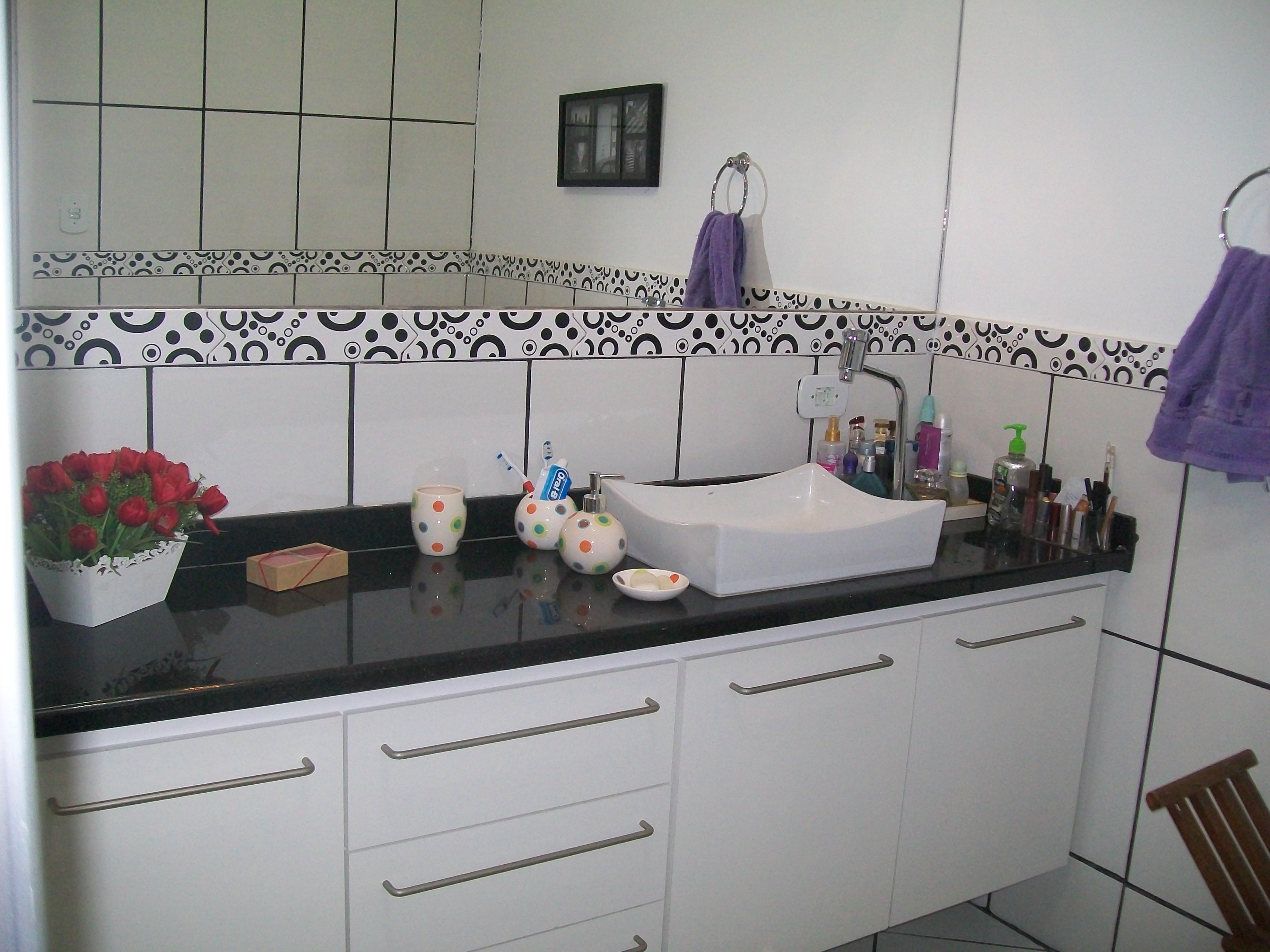 Galeria de Fotos Marmoraria Global Tec #6E3C40 3664x2748 Banheiro Com Bancada De Granito